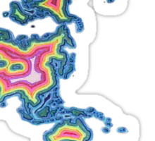 Map Art Sticker
