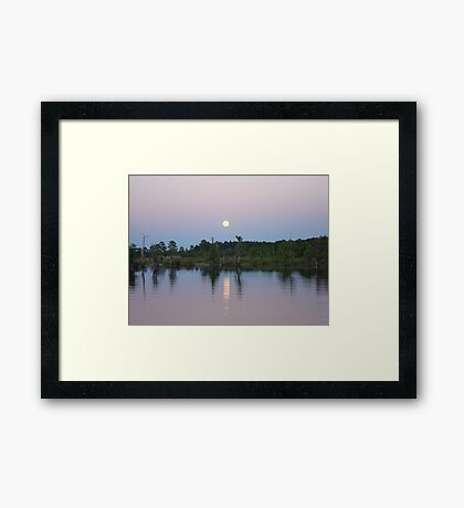 MOONRISE ON BEAR CREEK Framed Print