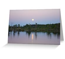MOONRISE ON BEAR CREEK Greeting Card