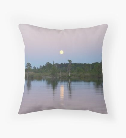 MOONRISE ON BEAR CREEK Throw Pillow