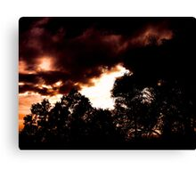 Sunset in Arvada CO. Canvas Print