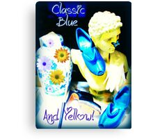 Classic Blue and Yellow Canvas Print