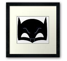 Super hero mask ( batman) Framed Print