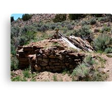 Old Stone Cabin,near Moon Rocks,Reno Nevada USA Canvas Print