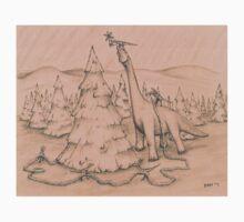 Dinosaurs Trimming the Tree Kids Tee
