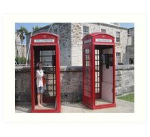 Red Telephone Booths Art Print
