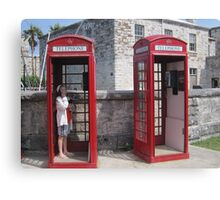 Red Telephone Booths Canvas Print