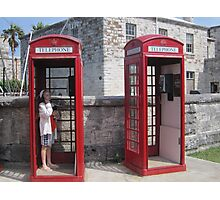 Red Telephone Booths Photographic Print