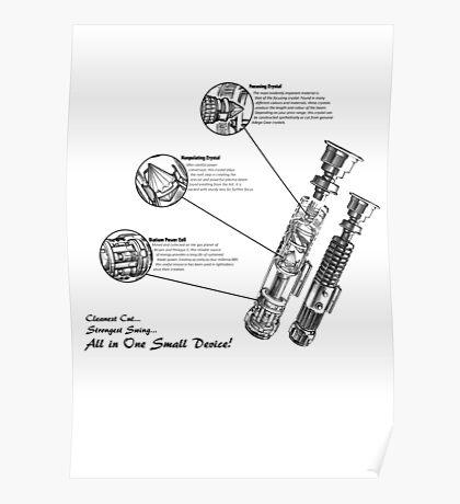 Star Wars Lightsaber Schematics Poster