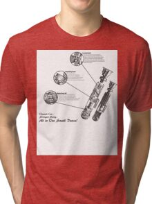 Star Wars Lightsaber Schematics Tri-blend T-Shirt