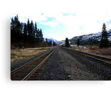 Union Pacific Railroad Tracks,Verdi Nevada USA Canvas Print
