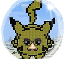 Desguised Minecraft Pikachu by butterbeak