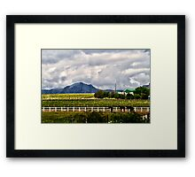 Capetown Farmlands Framed Print