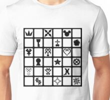 Kingdom Hearts Grid (Clear) Unisex T-Shirt