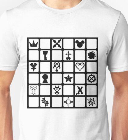 Kingdom Hearts Grid (Clear) Unisex T-Shirt
