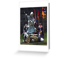 Medieval Knight In Action Greeting Card