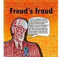 Freud's fraud Photographic Print