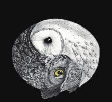 Owl Yin Yang T-Shirt T-Shirt