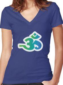 Om / Aum - Sanskrit Hindu Symbol - G2B Women's Fitted V-Neck T-Shirt