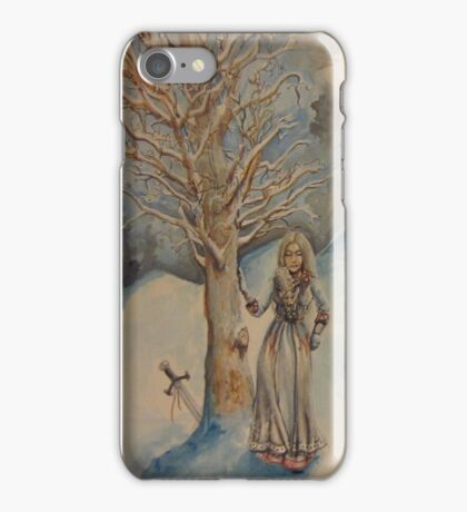 A Woman in Winter iPhone Case/Skin