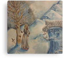 A Woman in Winter Metal Print