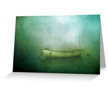 Sound of the sea in lonely bays Greeting Card