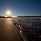 sunrise at beach by houenying
