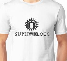 Superwholock Logo (w/ text) Unisex T-Shirt