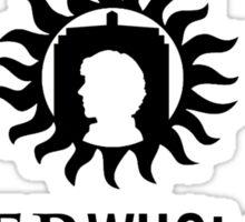 Superwholock Logo (w/ text) Sticker