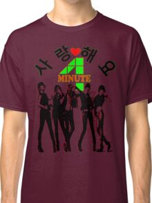 ㋡♥♫SaRangHaeYo(Love) Hot Fabulous K-Pop Girl Group-4Minute Clothing & Stickers♪♥㋡ Classic T-Shirt