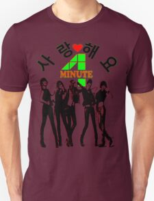 ㋡♥♫SaRangHaeYo(Love) Hot Fabulous K-Pop Girl Group-4Minute Clothing & Stickers♪♥㋡ Unisex T-Shirt