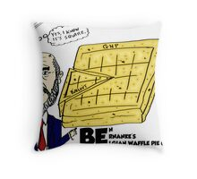 Ben Bernanke's Belgian Waffle Pie Chart Throw Pillow