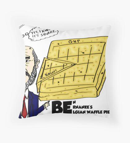 Ben Bernanke's Belgian Waffle Pie Chart Throw Pillow