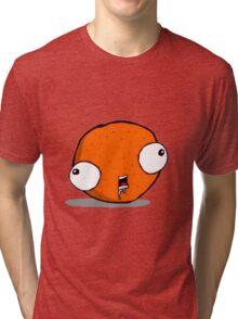 Mentally Challenged Tangerine Tri-blend T-Shirt