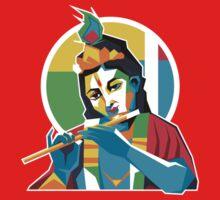 Lord Krishna - Hindu God - Geometric Avatar Kids Clothes