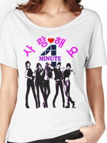 ㋡♥♫SaRangHaeYo(Love) Hot Fabulous K-Pop Girl Group-4Minute Clothing & Stickers♪♥㋡ Women's Relaxed Fit T-Shirt