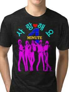 ㋡♥♫SaRangHaeYo(Love) Hot Fabulous K-Pop Girl Group-4Minute Clothing & Stickers♪♥㋡ Tri-blend T-Shirt