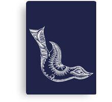 Journey Bird Dive White Canvas Print