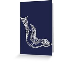 Journey Bird Dive White Greeting Card