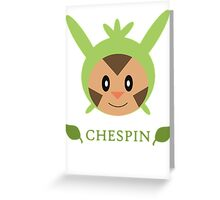 Chespin - Pokemon X & Y Greeting Card