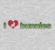 I Love Bunnies One Piece - Long Sleeve