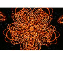 Flame Flower Fractal Photographic Print