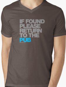If Found Please Return To The Pub Mens V-Neck T-Shirt