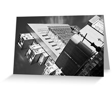 Manchester's civil justice law courts. (B&W) Greeting Card