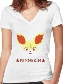Fennekin - Pokemon X & Y Women's Fitted V-Neck T-Shirt