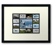 Collage in the Air Framed Print