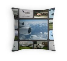 Collage in the Air Throw Pillow