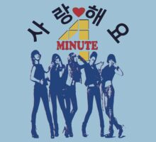 ㋡♥♫SaRangHaeYo(Love) Hot Fabulous K-Pop Girl Group-4Minute Clothing & Stickers♪♥㋡ One Piece - Short Sleeve