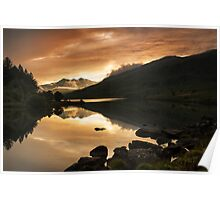 Sunset at Llynnau Mymbyr Poster