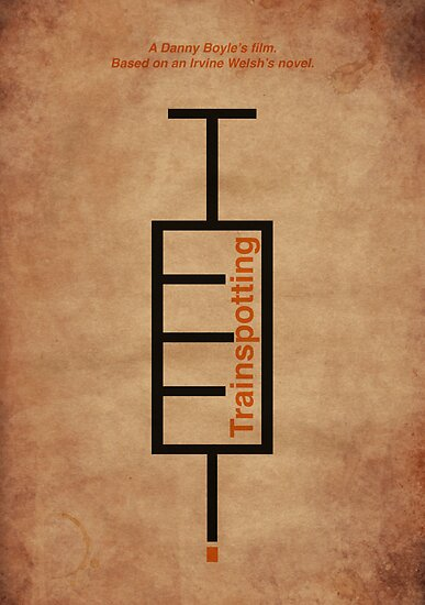 Trainspotting Typographic Poster by Aguvagu